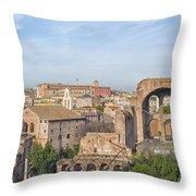 Rome Roman Forum 01 Throw Pillow