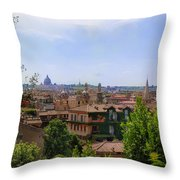 Rome Rooftop Throw Pillow
