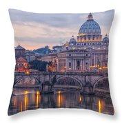 Rome Saint Peters Basilica 01 Throw Pillow