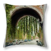 Rome Street Scene Throw Pillow