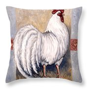 Romeo The Rooster Throw Pillow