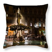 Rome's Fabulous Fountains - Fontana Del Tritone Throw Pillow
