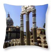 Romr Forum Columns Throw Pillow