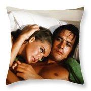 Romy Schneider And Alain Delon Throw Pillow
