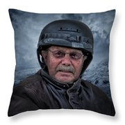 Ron On His Shadow Throw Pillow