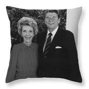 Ronald And Nancy Reagan Throw Pillow