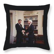 Ronald Reagan And John Mccain Throw Pillow by Carol Highsmith