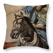 Ronald Reagan Portrait 3 Throw Pillow by Corporate Art Task Force