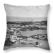 Roney Plaza Hotel And Casino Throw Pillow
