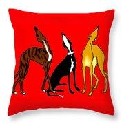 Roo Greyhounds Throw Pillow