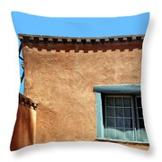 Roof Corner With Ladder And Window Throw Pillow