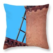 Roof Corner With Ladder Throw Pillow