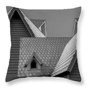 Roof Lines Throw Pillow