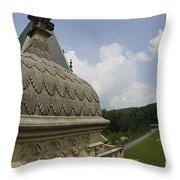 Roof Of Biltmore Estate Throw Pillow