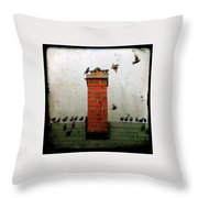 Roof Top Hoppers Throw Pillow