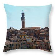 Roofs Of Siena Throw Pillow