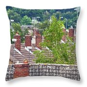 Rooftop Communication Throw Pillow