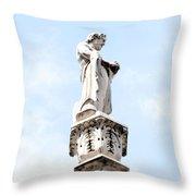 Rooftop Male Statue Duomo Di Milano Italia Throw Pillow