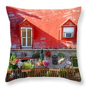 Rooftop Patio Throw Pillow