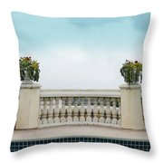 Rooftop Pool Throw Pillow