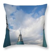 Rooftop Towers At Museum Of Technology Throw Pillow