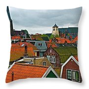 Rooftops From Our Host's Apartment In Enkhuizen-netherlands Throw Pillow