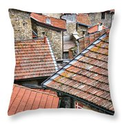 Rooftops Of Apricale.italy Throw Pillow