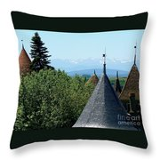 Rooftops Of Carcassonne Throw Pillow
