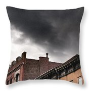 Rooftops Of New York Throw Pillow