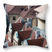 Rooftops Of Prague In Czechia Europe Throw Pillow