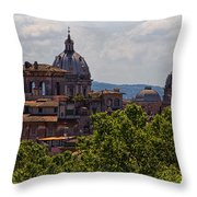 Rooftops Of Rome Throw Pillow