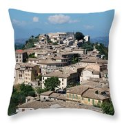 Rooftops Of The Italian City Throw Pillow