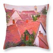Rooftops Trogir Croatia Throw Pillow
