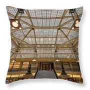 Rookery Building Lobby Throw Pillow