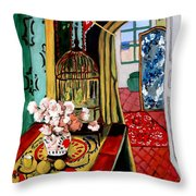 Room With A View After Matisse Throw Pillow