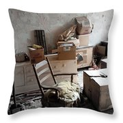 Room With One Window Throw Pillow