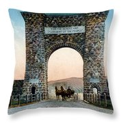 Roosevelt Arch Yellowstone Np Throw Pillow