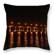 Roosevelt Bridge Panorama Throw Pillow