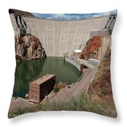 Roosevelt Dam Throw Pillow