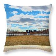 Roosevelt Island Memorial Throw Pillow