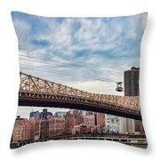 Roosevelt Island Tramway Throw Pillow