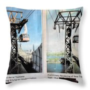 Roosevelt Island Tramway Throw Pillow