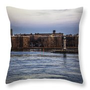 Roosevelt Island View - Nyc Throw Pillow
