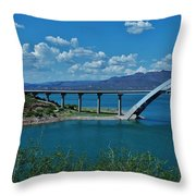 Roosevelt Lake 3 - Arizona Throw Pillow