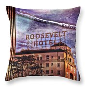 Roosevelt Retro Throw Pillow