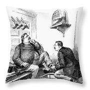 Roosevelt-taft Cartoon Throw Pillow