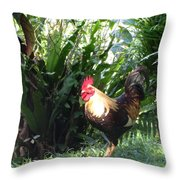 Rooster 1 Throw Pillow