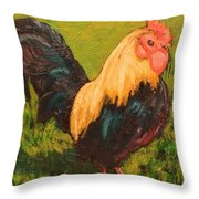 Rooster A Throw Pillow