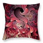 Rooster Abstract Throw Pillow