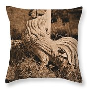 Rooster At The Big Chicken Barn Throw Pillow